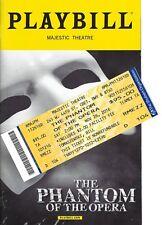 "James Barbour ""PHANTOM OF THE OPERA"" Andrew Lloyd Webber 2016 Playbill / Ticket"