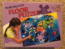 Really Big 2 X 3 Ft. Floor Puzzle 36 pcs.  - A child's first map of the world