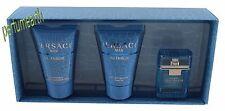 3 Pcs Versace Eau Fraiche Mini Set 0.17oz./5ml Edt Splash For Men New