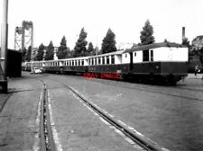 PHOTO  NETHERLANDS TRAMS 1959 ROTTERDAM ROSESTRAAT RTM BOGIE TRAILERS AND VAN