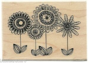 FAB FLOWERS Rubber Stamp PS0277A Hampton Art Brand NEW! floral