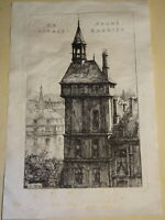 Charles HEYMAN (1881-1915) GRAVURE EAU FORTE ORIGINALE ARCHITECTURE PARIS ? 1911
