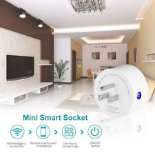 Smart Wi-Fi Mini Outlet Plug Switch Works With Echo Alexa Remote Control 1-pack