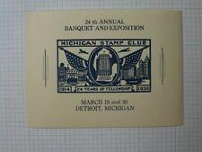 Michigan Stamp Club 1938 24th Annual Expo Detroit Mi Event Souvenir Ad