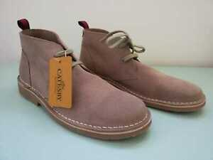 Classic CATESBY Real Suede Soft Desert Boots Ankle Flat Comfort, Sand, Taupe UK7