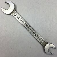 """Vintage PLOMB TOOLS 3018 5/16"""" x 1/4"""" Open-End Ignition Wrench U.S.A. PLVMB Tool"""