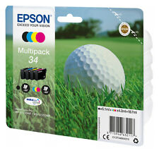 4x ORIGINAL TINTE PATRONEN EPSON 34 WorkForce Pro WF-3720 WF-3725 DWF Golfball