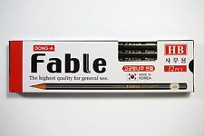 Dong-A Fable Highest Quality Cedar Wooden Pencil Made in Korea HB 12 pcs 1 Dozen