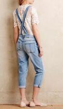 NEW Level 99 Womens Overalls SZ Small Super Soft Jeans Striped Denim