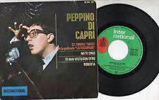 PEPPINO DI CAPRI disco EP 45 g MADE in SPAIN St:Tropez Twist + 3 STAMPA SPAGNOLA