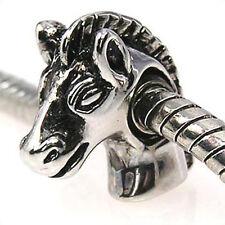 Wholesale 20pcs Pony Horse Head Silver European Bracelet Spacer Charm Beads D353