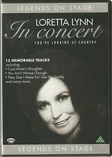 LORETTA LYNN IN CONCERT YOU'RE LOOKING AT COUNTRY DVD - LEGENDS ON STAGE
