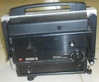 GAF 2000 S Sound Movie Adjustable Speed Projector Model CH-1, Works, Needs Cord
