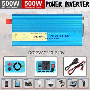 Spannungswandler 500w 1200w Reiner Sinus Wechselrichter Inverter 12V auf 230V