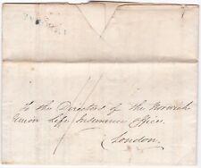 # 1826 BLUE CAMBORNE POSTMARK MEDICAL QUESTIONNAIRE NORWICH UNION THOMAS GARLAND