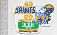 Beer Football New Orleans Saint & Dixie Beer Go Saints Go NFL Promo Patch