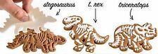 6 Piece set - Large Dinosaur Skeleton Fossil 3-D Cookie Cutters Molds Stampers