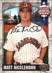 2000 Team Best Autograph #NNO Matt McClendon Jamestown Jammers  C17489