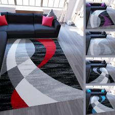 Kurzflor Teppich Modern Design Farbwahl Schwarz Grau Türkis Lila Streifen Muster