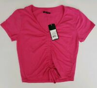 Wild Fable Women's Crop Top Pink Sizes S M Short Sleeve Shirt Blouse