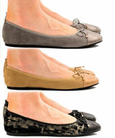 Girls Womens Ballerina Ballet Dolly Pumps Ladies Flats Loafers Shoes UK Size 3-8
