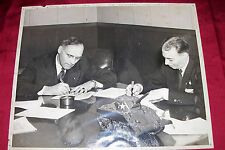Rare Original WWII Photo Sherman Tank Contract Signing 1944 1945 May 1st M4 M4A3