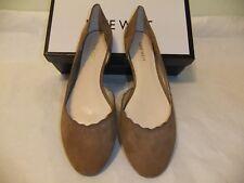 NINE WEST Mai Brown Suede Leather Flat Ballet Slip On Comfort Size 8.5 NIB $80