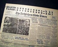 NEW YORK YANKEES vs. Giants Subway World Series of MLB Baseball 1936 Newspaper