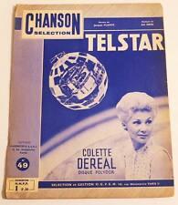Partition vintage sheet music COLETTE DEREAL : Telstar * 60's