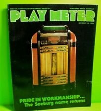 PLAY METER Magazine Oct 1984 Video Arcade Games Seeburg Jukebox National Charts