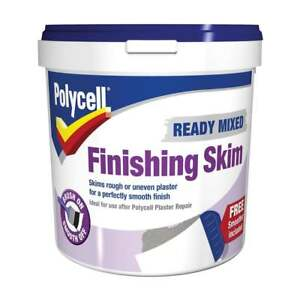 POLYCELL READY MIXED FINISHING SKIM 1 LITRE SMOOTH PLASTER SKIM