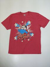 Mighty Mouse T-shirt Size XL cartoon superhero mice star muscle