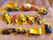Matchbox & Other Mfg CONSTRUCTION EQUIPMENT x12 Many Partial FOR REMAINING PARTS
