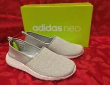 New Womens ADIDAS Size 10 Neo Lite Racer CLOUDFOAM Gray Slip On SNEAKERS Shoes