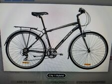 REID CITY 1 HYBRID BLACK 45CM 700C HYBRID ROAD BICYCLE CITY BIKE UNISEX BICYCLE