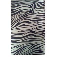"Zebra Print Fabric Fleece Stretch 18"" x 40"" kids toys ,pillow case,Jacket throw"