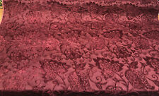 Renaissance Chenille Claret Upholstery Fabric by the yard sofa couch pillow