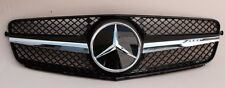 2008-2014 MERCEDES C CLASS W204 SL LOOK C250 C300 C350 SEDAN SPORT BLACK GRILLE