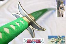 Anime Bleach Nelliel Tu Green Sword Replica w/ Single Sword Stand