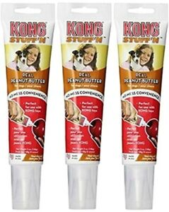 Kong Stuff'N Real Peanut Butter 5oz Pack of 3 with Free Shipping
