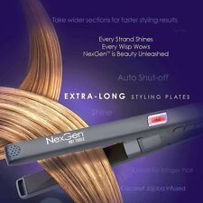 "NEXGEN 1"" IONIC NANO TITANIUM FLAT IRON PRO DIGITAL 450F 3-YEAR WARRANTY+2GIFTS"