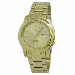 Seiko 5 Automatic Gold-Tone Stainless Steel Men's Watch SNKK20K1