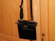 Small Relic Black Leather Cross Body Messenger Handbag