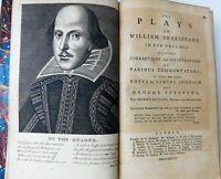 1778 William Shakespeare The Plays, Beautiful 10 Vol. Set, Samuel Johnson