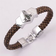 Retro Punk Syndicate Assassins Creed Sheet Titanium Bracelets Braided Leather Br