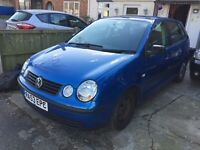 Volkswagen Polo S 1.2 Petrol 5 Door Blue Manual LOW milages, M.O.T. 7  MONTHS