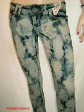 28/2 NEW BLUE DENIM SILVER EMBROIDERED MARBLE SKINNY LIMITED EDITION JEANS 8