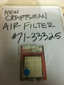 NEW CRAFTSMAN MOWER AIR FILTER  # 71-33325