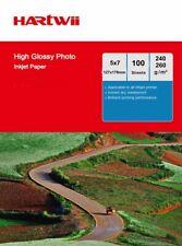 100sheets 5x7 High Glossy Photo Paper Inkjet Paper Print  7x5 127x178mm Hartwii