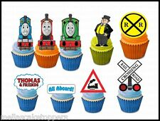 14 x Thomas and Friends   Edible Cupcake Toppers, Fairy Cake Bun Decorations